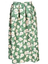 Rochas Floral Pleated Skirt