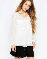 B.young Top With Lace Detail