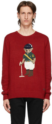 Polo Ralph Lauren Red Riding Bear Sweater