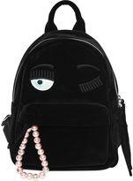 Chiara Ferragni Flirting Eye Velvet Backpack