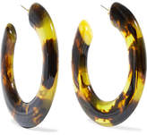 Cult Gaia Kennedy Tortoiseshell Resin Hoop Earrings - one size
