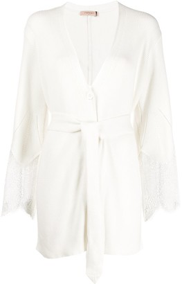Twin-Set Lace-Panelled Cardigan