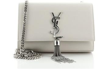 Saint Laurent Classic Monogram Tassel Crossbody Bag Grainy Leather Small