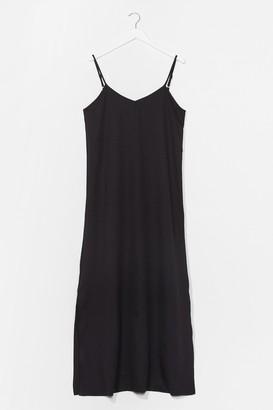 Nasty Gal Womens Sunset Lover V-Neck Midi Dress - Black - 6, Black