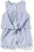 Old Navy Striped Tie-Front Romper for Baby