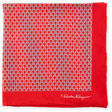 Salvatore Ferragamo Gancini Loop Pocket Square, Red