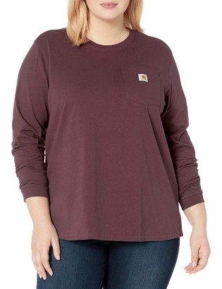 Carhartt Women's Wk126 Workwear Pocket Long Sleeve T Shirt Work Utility