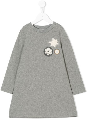 Moncler Enfant Snowflake Applique Dress
