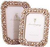 Twos Company Timeless Crystals and Pearls Photo Frames (Set of 2)