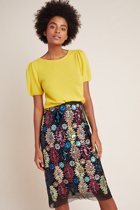 Eva Franco Ophelia Sequined Midi Skirt By in Assorted Size 00