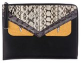 Fendi Crocodile & Snakeskin Crayons Monster Pouch