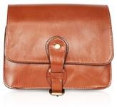 Topshop OSMAN Leather Vintage Crossbody Bag