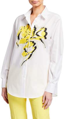 Piazza Sempione Stenciled Cotton Shirt