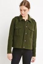 Forever 21 FOREVER 21+ Buttoned Wool-Blend Jacket