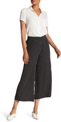 Max Studio High Waisted Patterned Crepe Culotte Pants