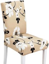Panda Superstore 2 Pieces Stretch Chair Slipcover Chair Cover Spandex Fabric Slipcover Washable
