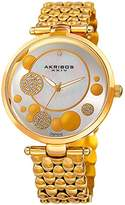 Akribos XXIV Women's Quartz Stainless Steel Casual Watch, Color:Gold-Toned (Model: AK963YG)