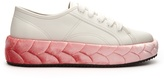 Marco De Vincenzo Velvet-midsole low-top leather trainers