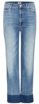 Mother The Maverick Cuff High-rise Cropped Jeans