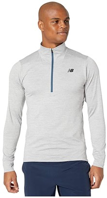 New Balance Fortitech 1/4 Zip Tee (Athletic Grey) Men's Workout