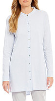 Eileen Fisher Mandarin Collar Long Dolman Sleeve Tunic