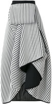 Stefano Mortari striped frill skirt