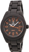 Toy Watch ToyWatch Velvety Bicolor Plasteramic Watch, Gunmetal/Orange