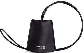 Jeff Wan Leather Keyring Necklace Black