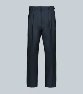Valentino wool-mohair pants with side stripes