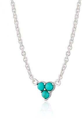 Silver Turquoise Trinity Necklace With Slider Clasp
