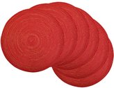 DII Round Woven, Indoor & Outdoor Braided Sparkle Placemat or Charger, Set of 6
