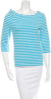 Kate Spade Striped Bow-Accented Top