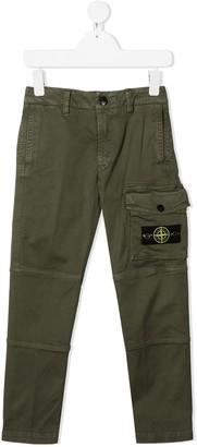 Stone Island Junior Logo Patch Cargo Trousers