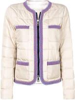 Fay contrast trim puffer jacket