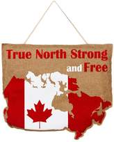 Evergreen True North Strong and Free Canada Burlap Door Decor