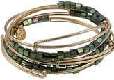 Malachite Lustre Bead 7 Expandable Bangles Set