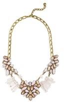 BaubleBar Women's Lyla Crystal & Quartz Bib Necklace