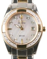 Citizen Eco-Drive EW1824-57D Stainless Steel & Gold Plated Diamond 28mm Watch
