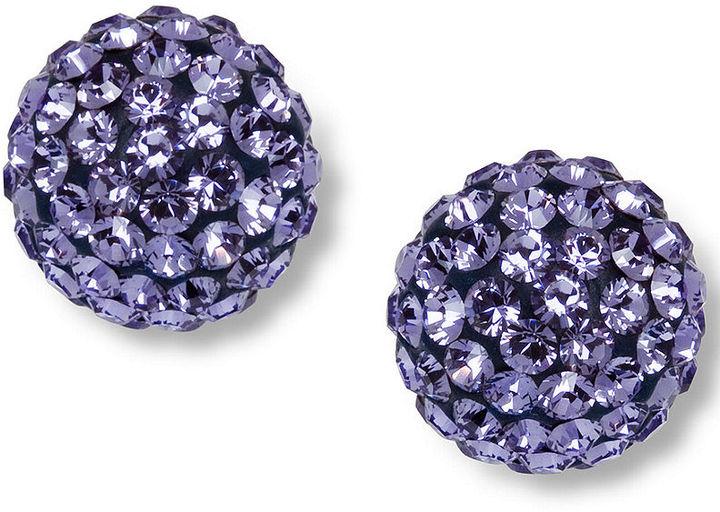 Swarovski Earrings, Purple Pointiage Stud Earrings