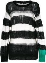 Diesel sheer striped jumper