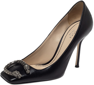 Gucci Black Leather Dionysus Buckle Pumps Size 35.5