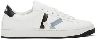 Kenzo White K-Logo Kourt Sneakers