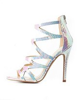Charlotte Russe Iridescent Caged Dress Sandals