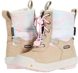 KEEN Kids Kelsa Tall WP (Toddler/Little Kid) (Plaza Taupe/Pink Blush) Girl's Shoes