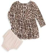 Splendid Baby Girl's Two-Piece Leopard Dress & Bloomer Set