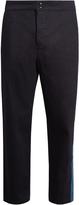 Raf Simons Contrast-panel wide-leg jeans
