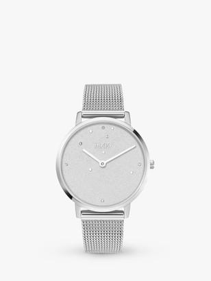 HUGO BOSS 1540066 Women's DREAM Crystal Mesh Bracelet Strap Watch, Silver