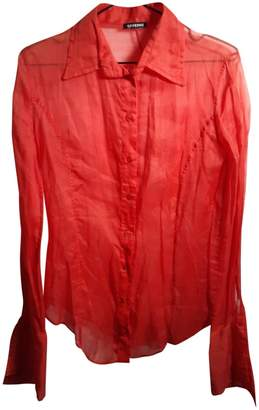 Gianfranco Ferre \N Red Cotton Top for Women