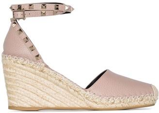 Valentino Rockstud 85mm wedge sandals