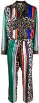 Pierre Louis Mascia patchwork-print silk jumpsuit